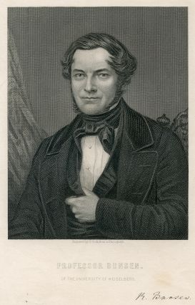 Of The University of Heidelberg. Engraved Portrait by C. Cook. Robert Bunsen