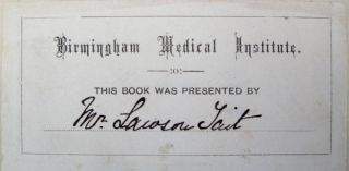Surgical observations on the restoration of the nose. Inscribed to John Lizars, and from the library of Lawson Tait.