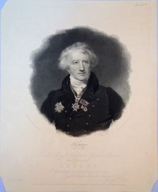 Portrait of Cuvier engraved by George A. Doo after the painting by W. H. Pickersgill painted in...