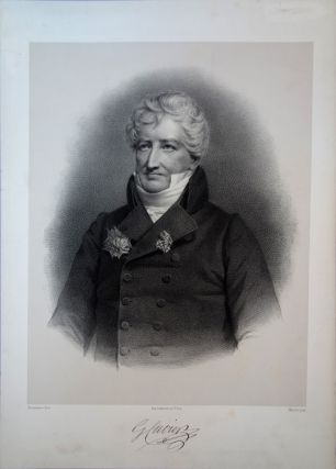Portrait lithograph by Bornemann after the portrait by Maurin. Minor marginal tear not affecting...
