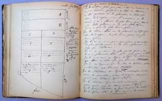 Autograph manuscript notebook of field experiments, 1890-91, 1891-92, and 1892-93. 130 leaves.