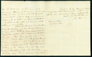 Autograph letter signed to Maj. James Rennell. Joseph Banks