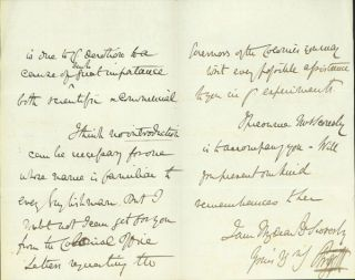 Autograph letter signed to William Scoresby jr. Argyll, 8th Duke of Argyll George John Douglas...