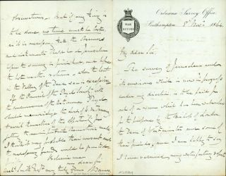 Autograph letter signed to Archibald Smith. Henry James, Col