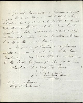 3 autograph letters signed to William Rathbone