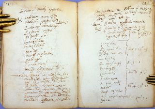 Manuscript in Italian in multiple hands, containing medical formulas, home remedies, etc. Late 16th - late 17th cent.