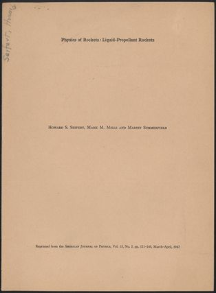 The physics of rockets [pt. 2: Physics of rockets: Liquid-propellant rockets; pt. 3: Physics of rockets: Dynamics of long-range rockets]. 3 offprints