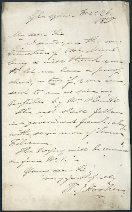 Autograph letter signed to Richard Taylor. William Jackson Hooker