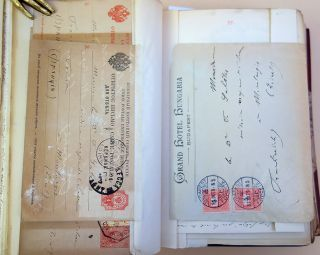 Correspondence de l'oncle Charles. Bound collection of letters.