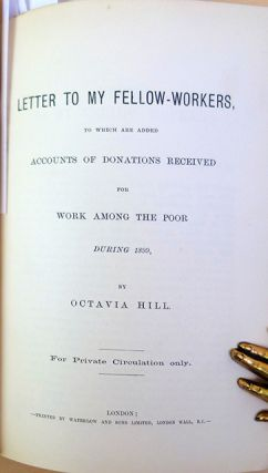 Letter [to my fellow workers] accompanying the account of donations received for work amongst the poor during 1872 [-1908]. 30 parts in one volume.