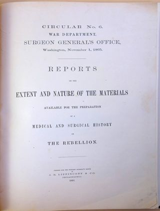 Circular no. 6 ... Reports on the extent and nature of the materials available for the...