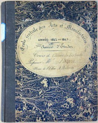 24 notebooks plus 2 ledgers relating to his scientific education at l'Ecole Centrale