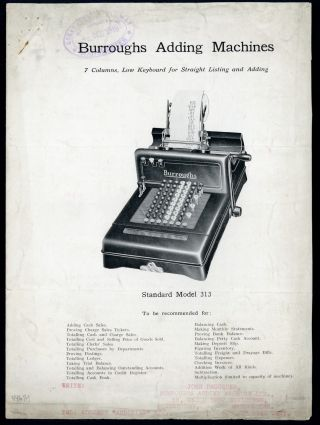 Burroughs adding machines. Burroughs Adding Machine Ltd
