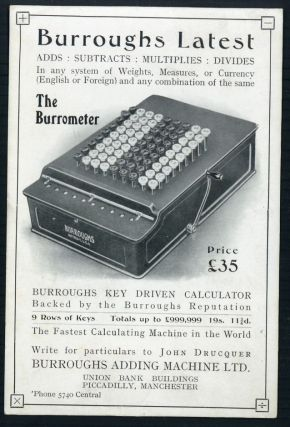 Burroughs latest . . . the Burrometer. Burroughs Adding Machine Ltd