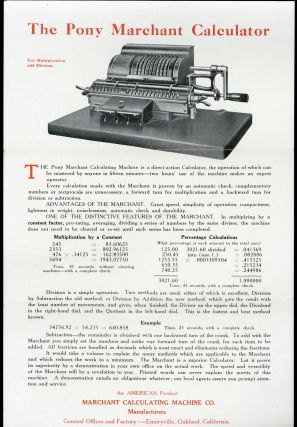 Here is the calculator you have been waiting for. Marchant Calculating Machine Company