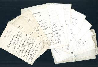 Archive of 21 letters plus other materials. Charles Curtis, Walter Fox