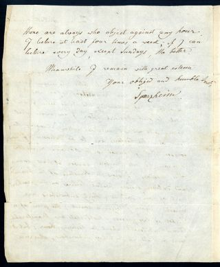 Autograph letter signed to Thos. Martineau Jr.