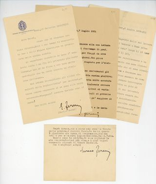 Archive of correspondence to experimental physicist Bruno Rossi
