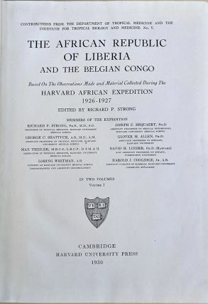 The African republic of Liberia and the Belgian Congo. Presentation copy. Richard P. Strong
