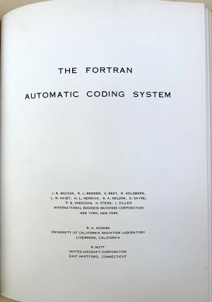 Fortran Programmer's Manual. 8 items. John Backus