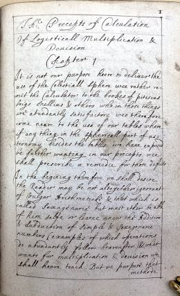 Tabulae Britannicae, the British tables. Manuscript copy in an unidentified hand. Jeremy Shakerley
