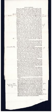 Post mortem examinations for accident insurance companies [and] Found drowned. Galley proof, with autograph corrections